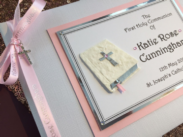 Girl's Personalised First Holy Communion Guest Book